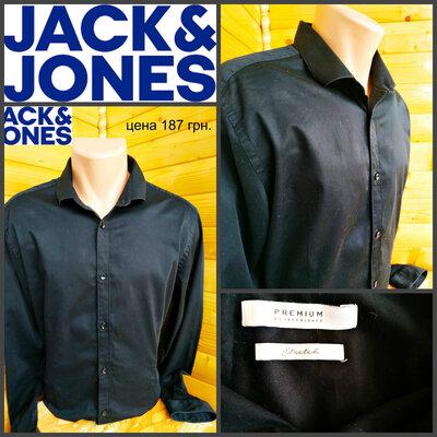 Стильная рубашка от jack & jones, оригинал, р. L