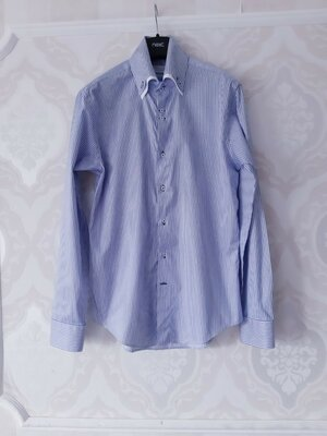 Размер L Стильная фирменная хлопковая необычная рубашка Zara