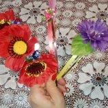 Обруч ободок весна бабочка цветок мак