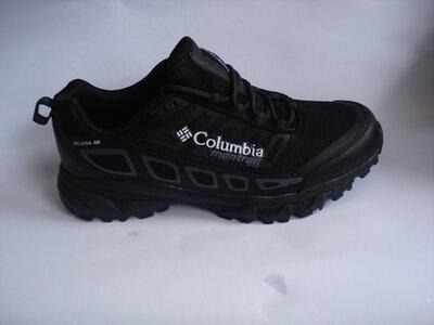 мужские кроссовки columbia montrail 41-46р черные и серые с оранжевым