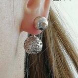 Жіночі срібні сережки пусети , женские серебряные серьги вкрутки пусет