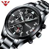 Мужские наручные часы / Чоловічий наручний годинник Nibosi 2303 Black