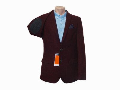 Мужской приталенный пиджак Piazza Italia с налокотниками. Разные цвета.