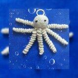 Ручна робота вяжу крючком брелоку Медуза