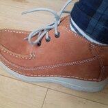 Ботинки нубук Wolky 23.5 см