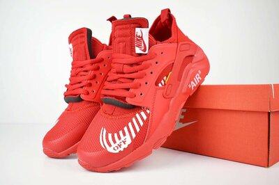 Кроссовки мужские Nike Huarache x OFF White red