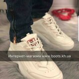 Женские кожаные кроссовки в стиле Fila фила кроссовки натуральная кожа белые