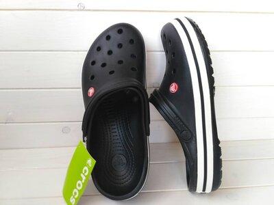 Кроксы чёрные crocs crocband black unisex original