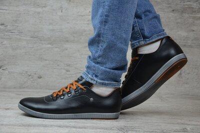 Мужские кожаные кроссовки 12 ч.т.