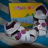 Кожаные сандалии босоножки для девочки р.20-26
