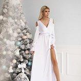 Белое Шёлковое платье Тм В&Н