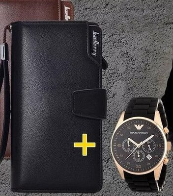 Набор Клатч Baellerry Business и часы Emporio Armani