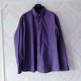 Размер XL Стильная фирменная джинсовая плотная мужская рубашка
