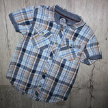 Стильная нарядная шведка рубашка ребел Rebel 4-5 лет, рост 104-110 см.