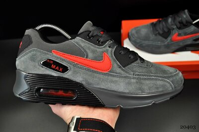 мужские кроссовки Nike Air Max серые замш 41-45р