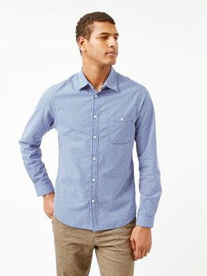 Рубашка слим в мелкую голубую клетку White Stuff 50-52р