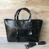 Женская кожаная сумка Valentino черная жіноча шкіряна сумка