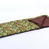 Спальный мешок одеяло с капюшоном 4083 спальник камуфляж 185 35х72см, от 15 до 0
