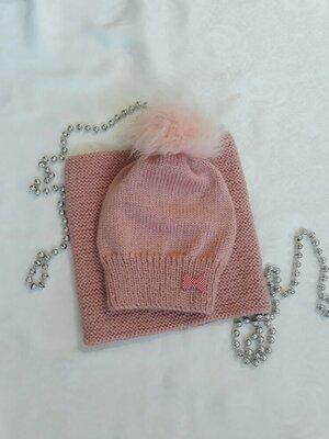 Комплект вязаний дитячий шапка снуд