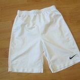 шорты футбольные белые Nike Dri-Fit на 10-12 лет