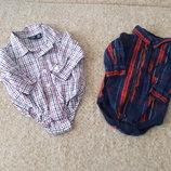 Фирменные бодики-рубашки 0-6мес