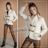 Утепленная курточка для девочек Лесли велюр Размеры 140- 170