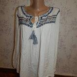 блузка вискозная, стильная, модная р14 полномерная