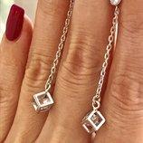 Серьги серебро 925 пробы гвоздики Фристайл 2611