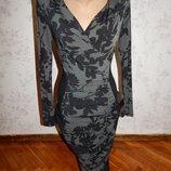 платье миди эластичное стильное, модное р8 Twiggy