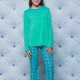 Детская пижама для девочки в цвете мята 122-152