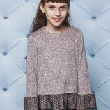 Детская кофта для девочки в персик цвете 122-152