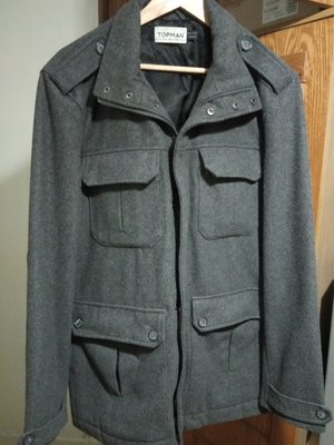 Стильное теплое, демисезонное/еврозима, брендовое мужское пальто тренч. Бренд Topman