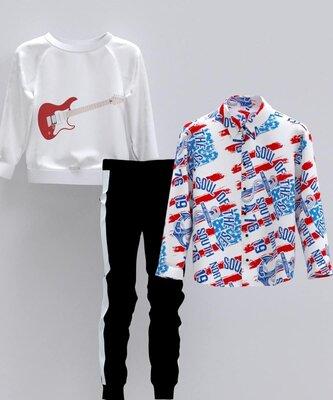 Рубашка, 42-44, 46-48 р-р, арт.ML-015/FL-0129-M