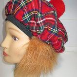 Клоун Шотландец кепка с волосами берет