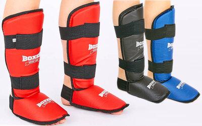 Защита голени с футами для единоборств Boxer 2002 3 цвета, размер S-XL