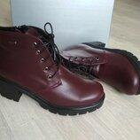 Кожаные женские ботинки демисезон, р.35-38, будете довольны ли