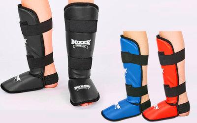 Защита голени с футами для единоборств Boxer 2004 3 цвета, размер S-XL