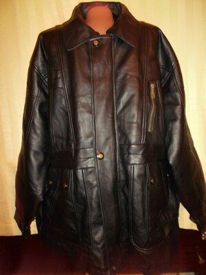 Куртка для больших мужчин - кожзам, утепленная. -6хl - 7xl -Red Globe