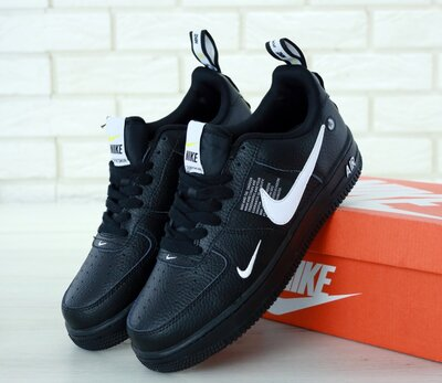 Мужские кроссовки Nike Air Force 1 '07 LV8 Utility Black черные