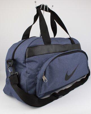Качественная спортивная, дорожная сумка nike 1325-2 синяя уплотненная