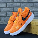 Мужские кроссовки Nike Air Force 1 Low Just Do It Orange