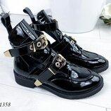 Женские кожаные ботинки Balenciaga