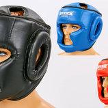 Шлем боксерский с полной защитой Boxer 2036 шлем бокс размер L, PU 3 цвета