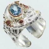 Серебряное кольцо Ручная работа .Размер 19