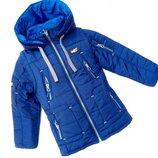Демисезонная куртка на мальчика Мото-2, 110-146 см