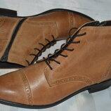 Челси броги ботинки кожа Pier One размер 42 43, черевики шкіра