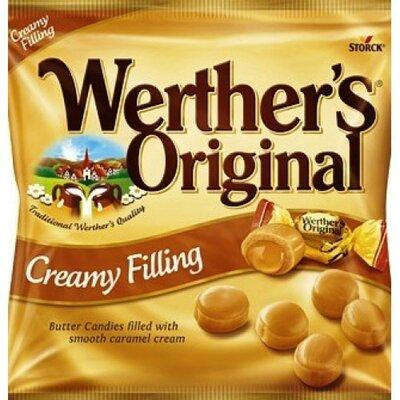 Сливочная карамель 135 грамм, производитель Германия, Creamy filling Werthers Original