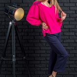 Слегка удлиненная женская шифоновая блузка Ванда