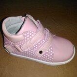 Демисезонные ботинки 20,22 р Clibee на девочку, осенние, весенние, осінь, клиби, ботінки, розовые