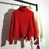 Укороченные свитера объемной вязки 42/46 семь расцветок